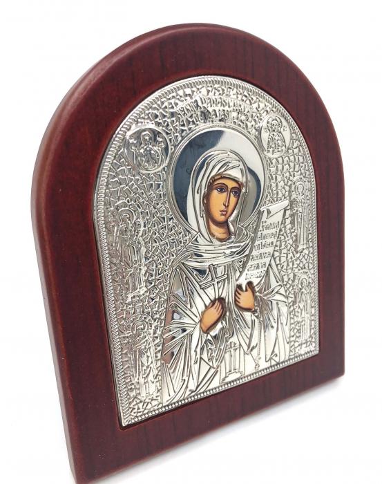 Cadou Icoana Argint 925 Maica Domnului si Carte de Rugaciuni 6