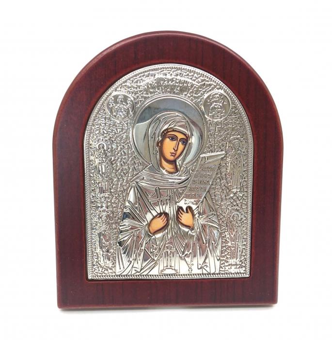 Cadou Icoana Argint 925 Maica Domnului si Carte de Rugaciuni 1