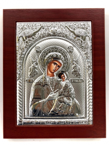 Cadou Icoana placata Argint Maica Domnului 0