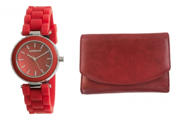 Cadou Personalizabil Lady in Red Ceas Cacharel & Portofel Piele Naturala-big