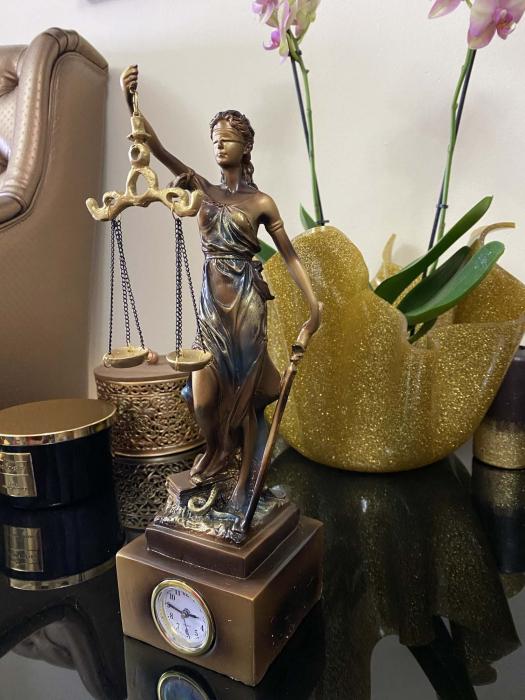 """Cadou statuetă """"Timpul Justiţiei"""" - 33 cm inaltime + CEAS [3]"""