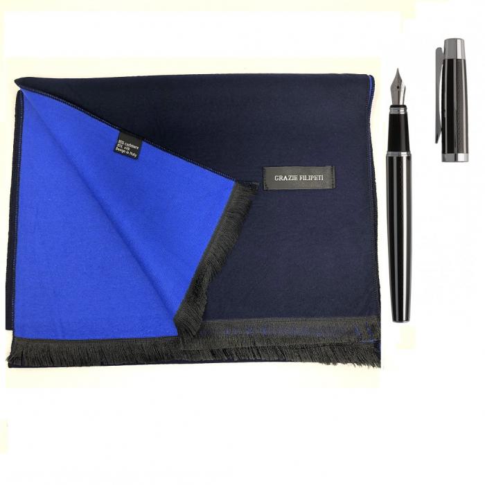 Cadou Style Blue Esarfa Casmir si Stilou Ungaro Desk-big
