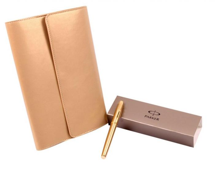 Cadou Gold Business Planner with Parker 0