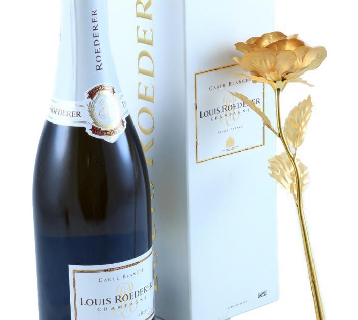 Cadou Gold Rose Louis Roederer 1