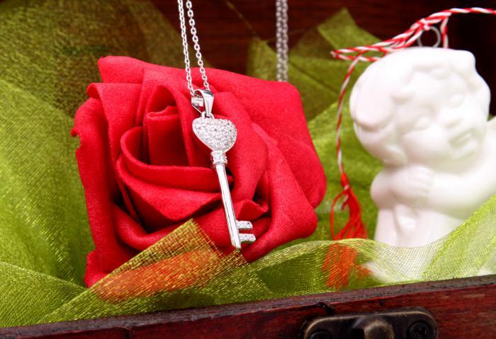 Cadou Angel of Love & Key Pendant Argint 925 5