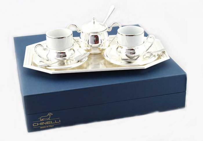 Chinelli Silver Coffee - Made in Italy - personalizabil-big
