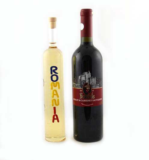 Cadou Romanian Treasure - Sticla Lucrata Manual 0