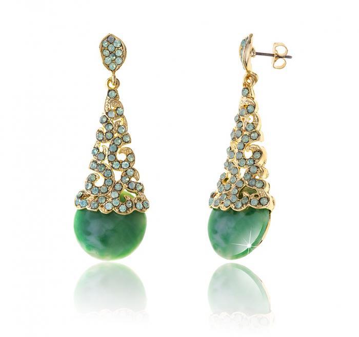 Cercei Borealy Aventurine & Opal Chandelier Green 0