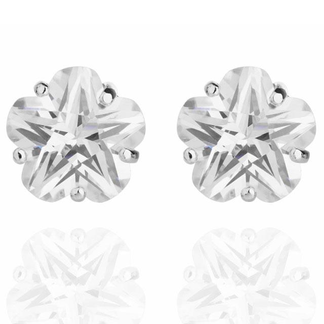 Cercei Borealy Sapphire Studs Flower Cut 0