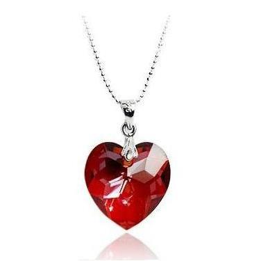 Colier Borealy 40 mm Red Heart-big