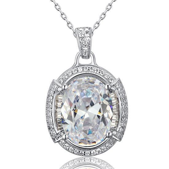 Colier One Passion Simulated Diamonds 925 Sterling Silver [0]