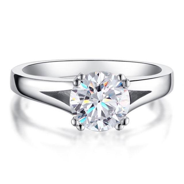 Inel Solitaire Simulated Diamond Argint 925 Marimea 8 0