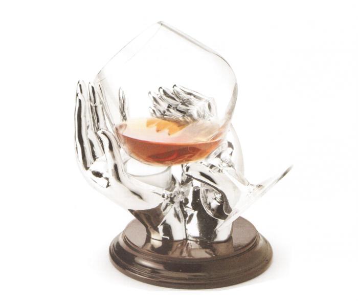 Încălzitor Cognac Silver Hands placat cu argint by Chinelli-big