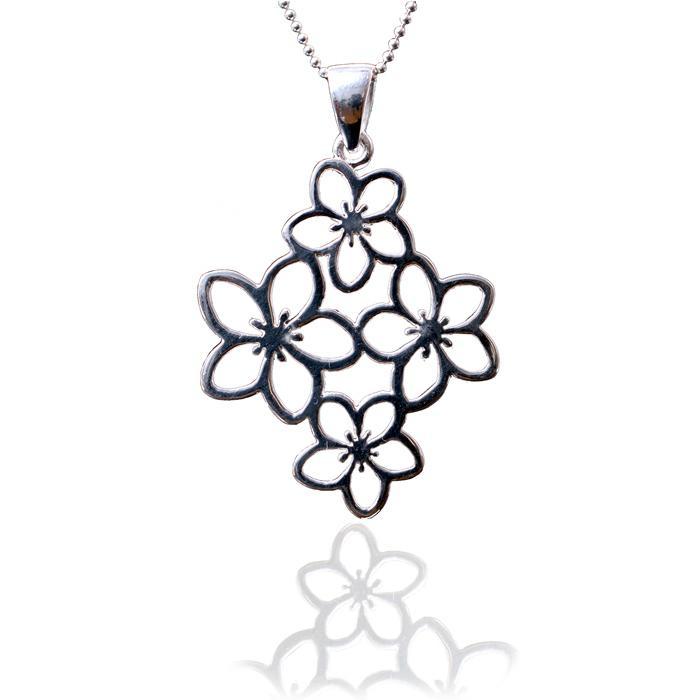 Medalion Borealy Argint 925 White Flower 1