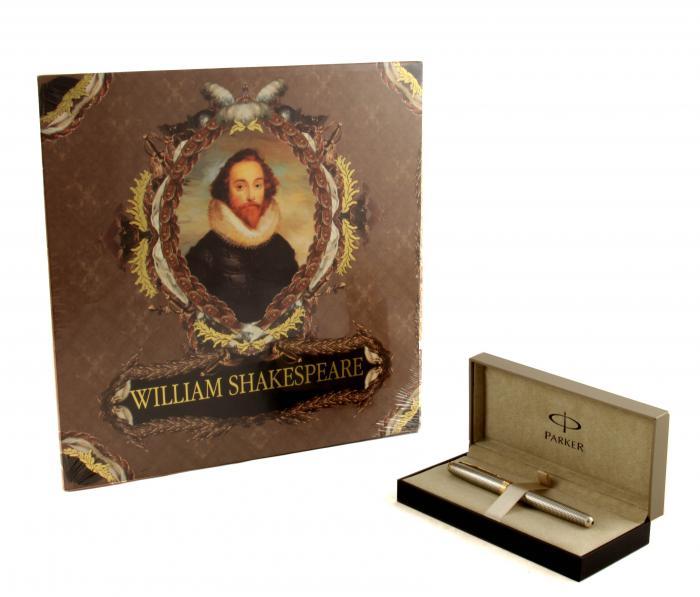 Cadou Shakespeare Meets Parker, stilou din argint masiv şi cu peniţă din aur-big