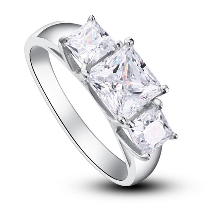 Inel Borealy Argint 925 Simulated Diamond Princess Marimea 7-big