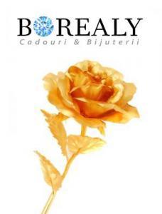 Trandafir Aur 24k & Suport Inima-big