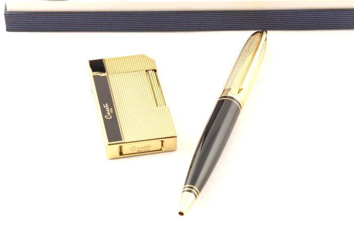 Cadou Gold Caseti Brichetă şi Pix 1