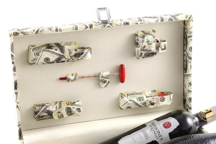 Cutie dublă de vin cu accesorii - Dollar Style 5