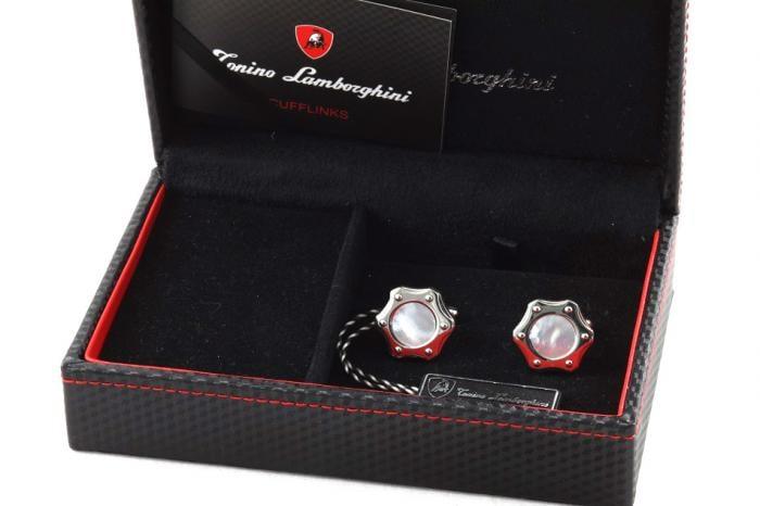 Cadou White Tonino Lamborghini butoni si ascot-big