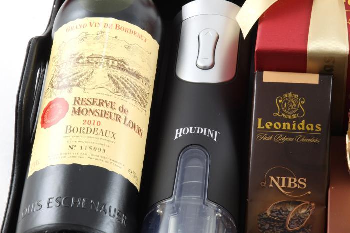 Bordeaux Luxury Black Leather Gift Tray 5