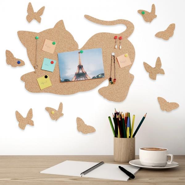 Cat and Butterflies Tabla din pluta 1