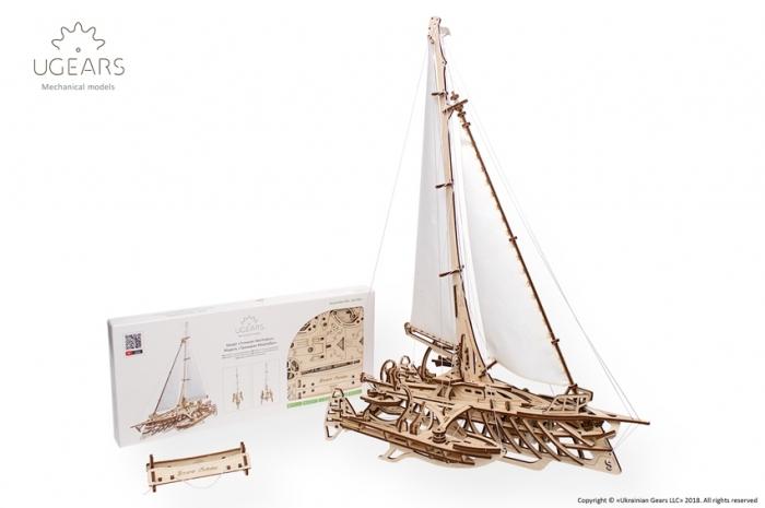 Barca Trimaran Puzzle 3D Mecanic [2]