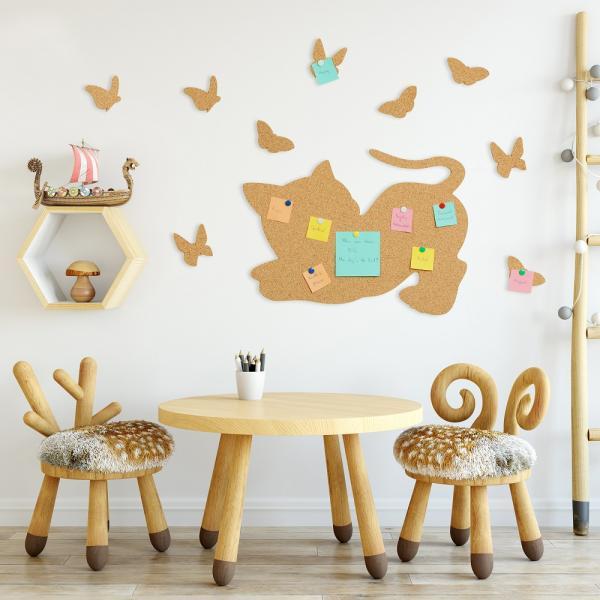 Cat and Butterflies Tabla din pluta 2
