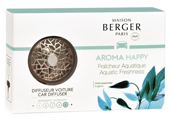Car Lover - Berger Aroma Happy Fraicheur Aquatique Odorizant Masina + 3 Rezerve 2