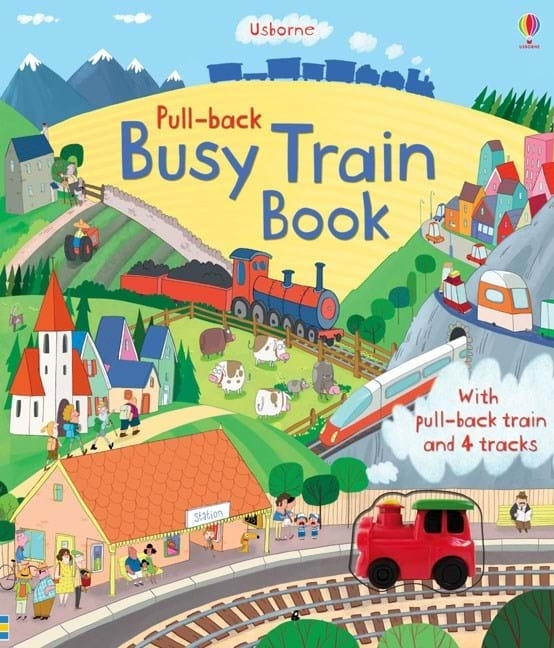 Carte Pull-back Busy Train 0
