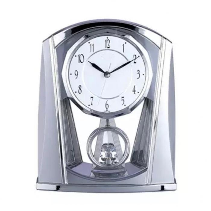 Ceas de Birou Silver cu pendul Crystal [0]