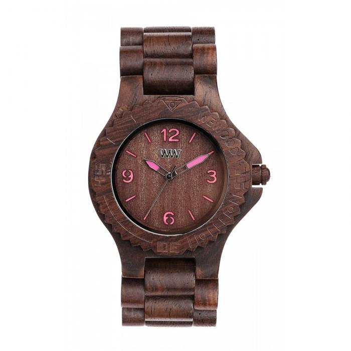 Choco Pink Wood Watch for Women - Ceas 100% din Lemn Lucrat Manual-big