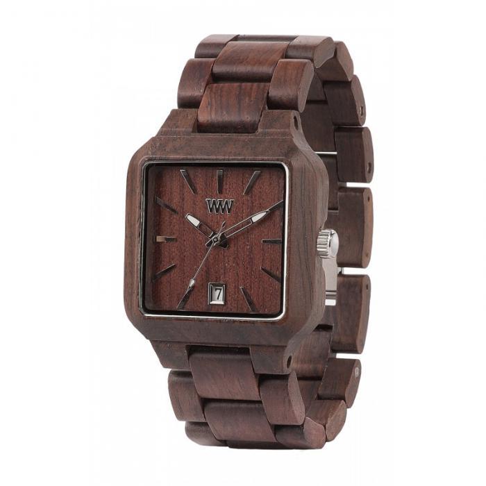 Metis Chocolate Wood Watch for Men - Ceas 100% din Lemn Lucrat Manual 0