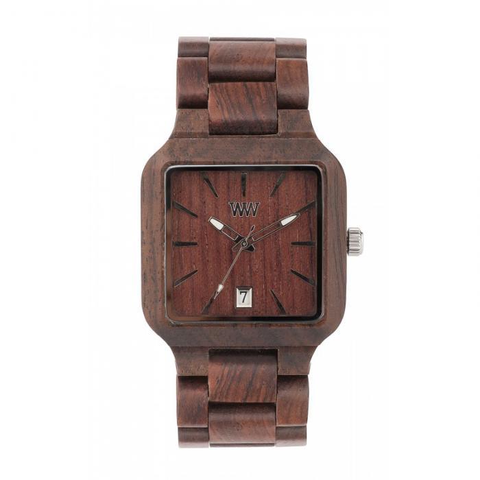 Metis Chocolate Wood Watch for Men - Ceas 100% din Lemn Lucrat Manual 1