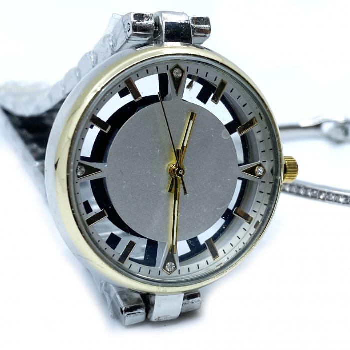 Set Ceas Lady Skeleton Luxury Gold & Bratara Star [2]