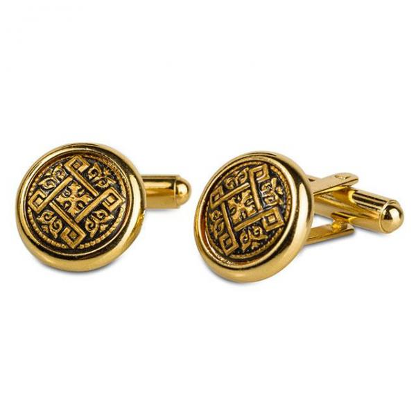 Set Ceas Zodiac Gold Plated by Credan si Butoni Gold Round by Credan-big