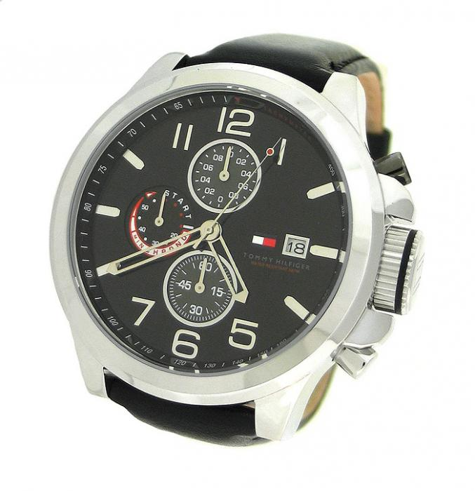 Ceas Tommy Hilfiger Black Leather 1