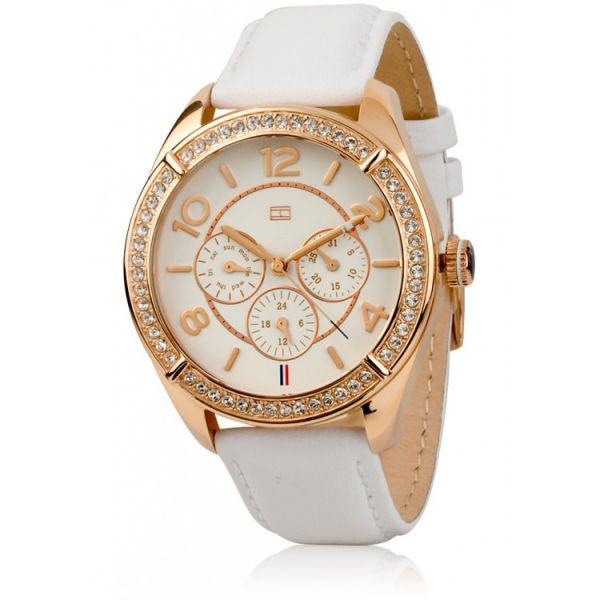 Ceas Tommy Hilfiger for Woman White & Gold 1