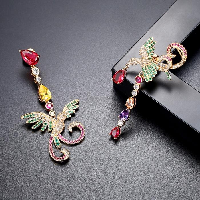 Cercei Asimetrici Multicoloured Phoenix [3]