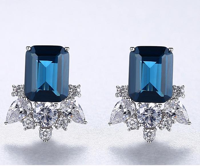 Cercei Lady Sapphire Blue Green 2
