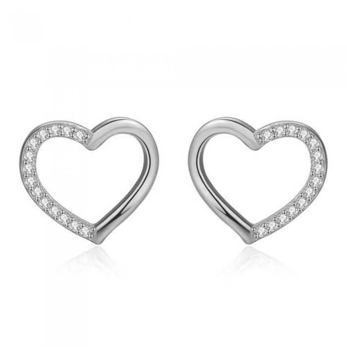 Cercei Borealy Argint 925 Two Fashionable Hearts [0]
