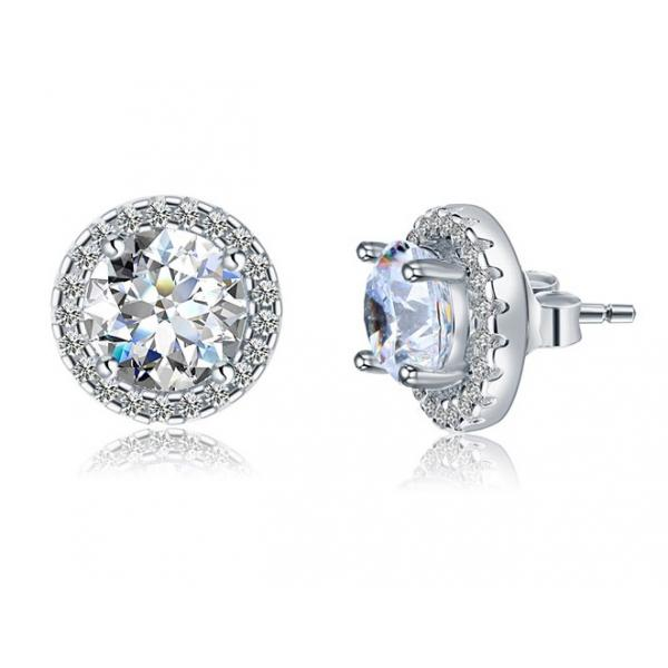 Cercei Borealy Argint Diamonds Halo One & Two 1