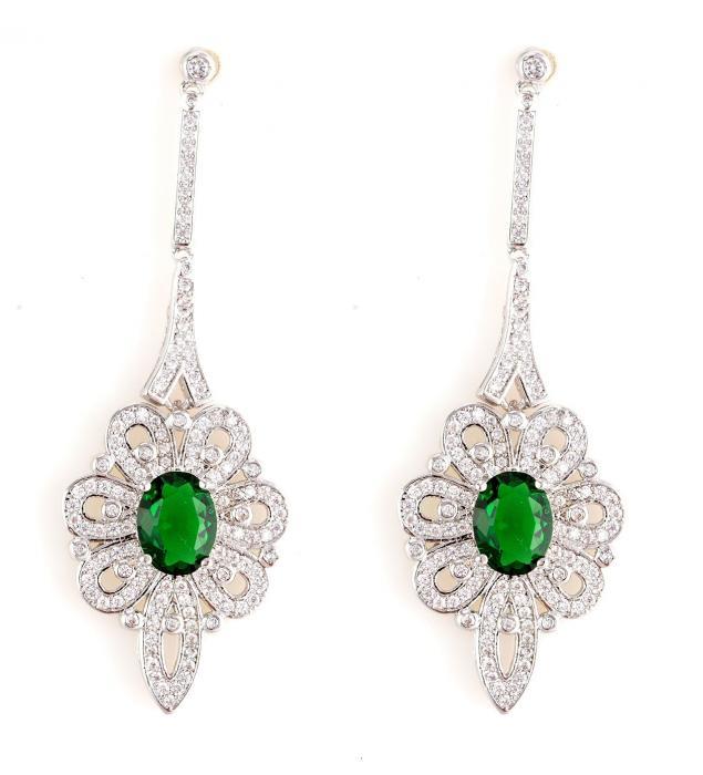 Cercei Borealy Emerald Chandelier Glam Royal-big