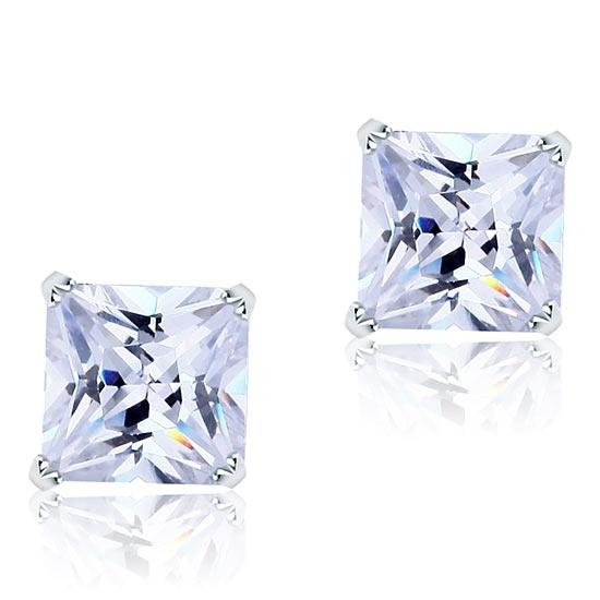 Cercei Borealy Large One Diamond Square Princess 0