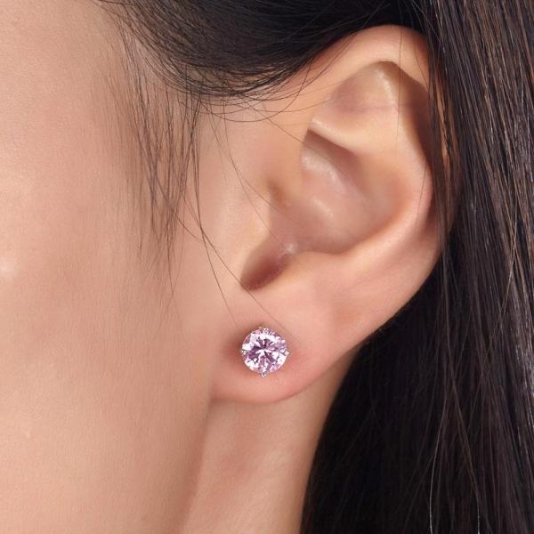 Cercei Borealy Argint 925  One Pink 2