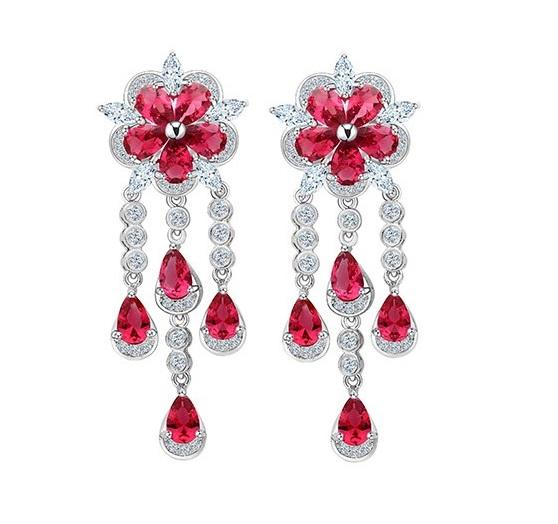 Cercei Borealy Ruby Flower Chandelier 0