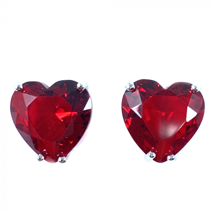 Cercei Borealy Sapphire Heart Red-big