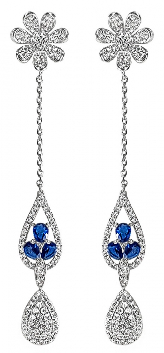 Cercei Crystal Drop Fine Blue 0