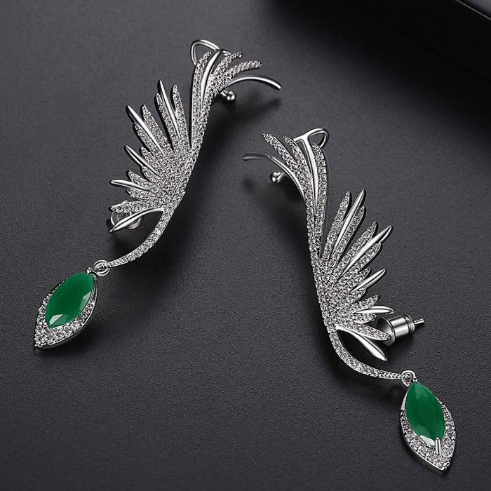Cercei Ear Cuff Green Angel [2]