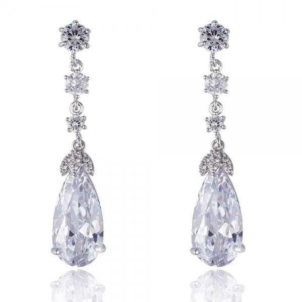 Cercei Elysee Borealy Long Crystal Teardrop 0